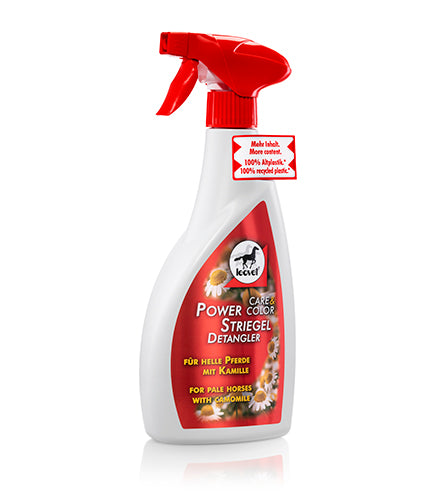 Leovet Power Detangler and coat shine with Camomile for chestnut and palamino horses