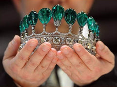 The Tiara with Emeralds and Diamonds