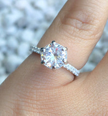 Another diamond alternative that is very popular in the jewelry world is Cubic Zirconia.