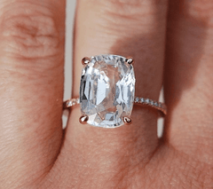 White Topaz is very affordable as it is common on the jewelry market.