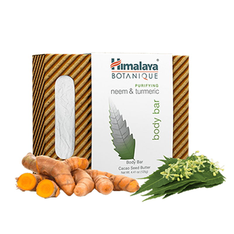 Himalaya Botanique Purifying Neem & Turmeric Body Bar - Purifies Skin