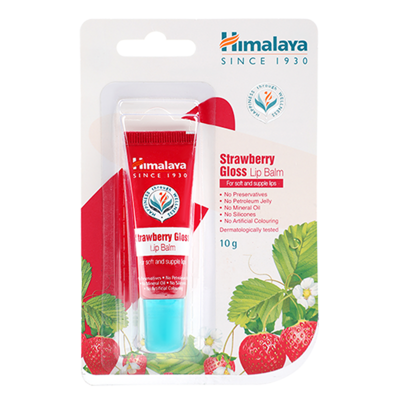 Himalaya Strawberry Gloss Lip Balm - For Soft and Supple Lips