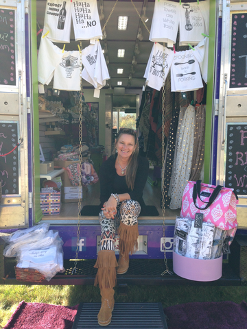 Ann Foley-Collins and her mobile boutique glee gifts