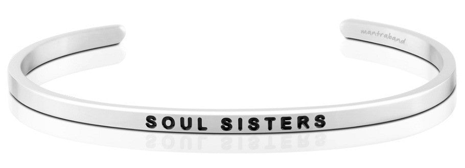Soul Sisters Personalized Thin Silver Bracelet