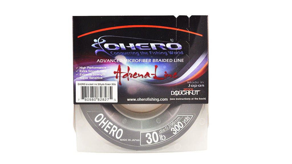 Ohero Adrena-Line Braided Fishing Line 300 Yard Spool