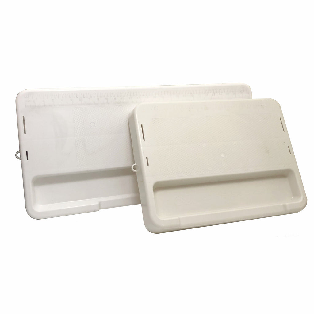 CUTTING TRAY WITH KNIFE SLOT, FITS ON 3.5-6GALLON BUCKET-LIGHT BLUE