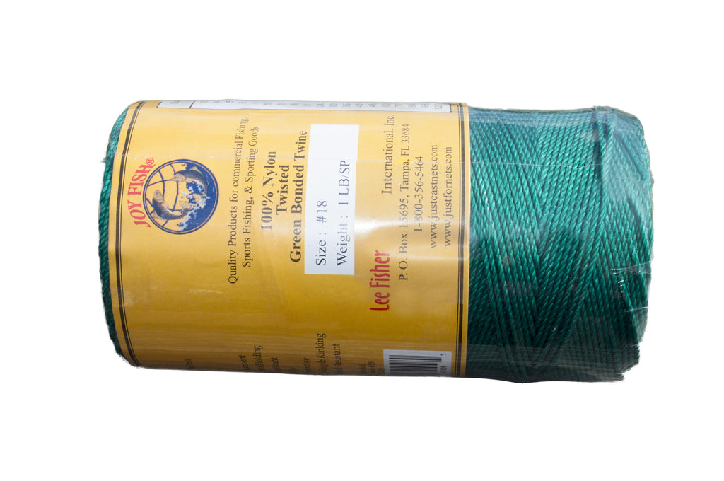 Green & Bonded Twisted Nylon Twine