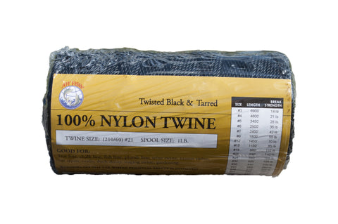 Black & Tarred Twisted Nylon Twine