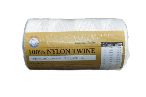 White Braided Nylon Twine