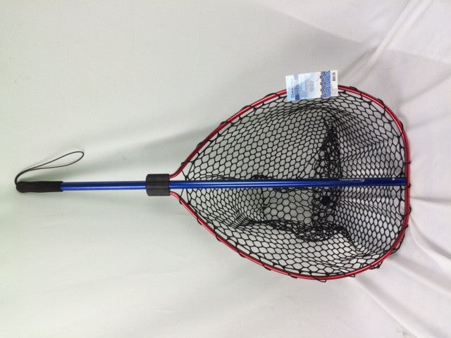 "RUBBER LANDING NET, TT-LNOH-04 HOOP-26.7""X22.2""HANDLE-44"" EASY STORAGE"