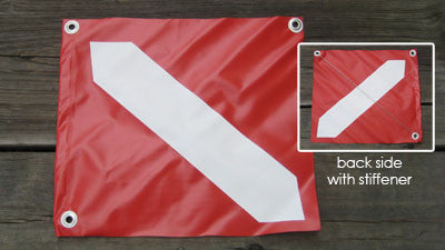 "Dive Flag Vinyl-Boat Legal  (20""x24"")"