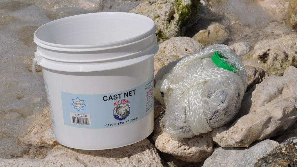 Joy Fish Professional Bait Cast Net with ½ in. Square Mesh