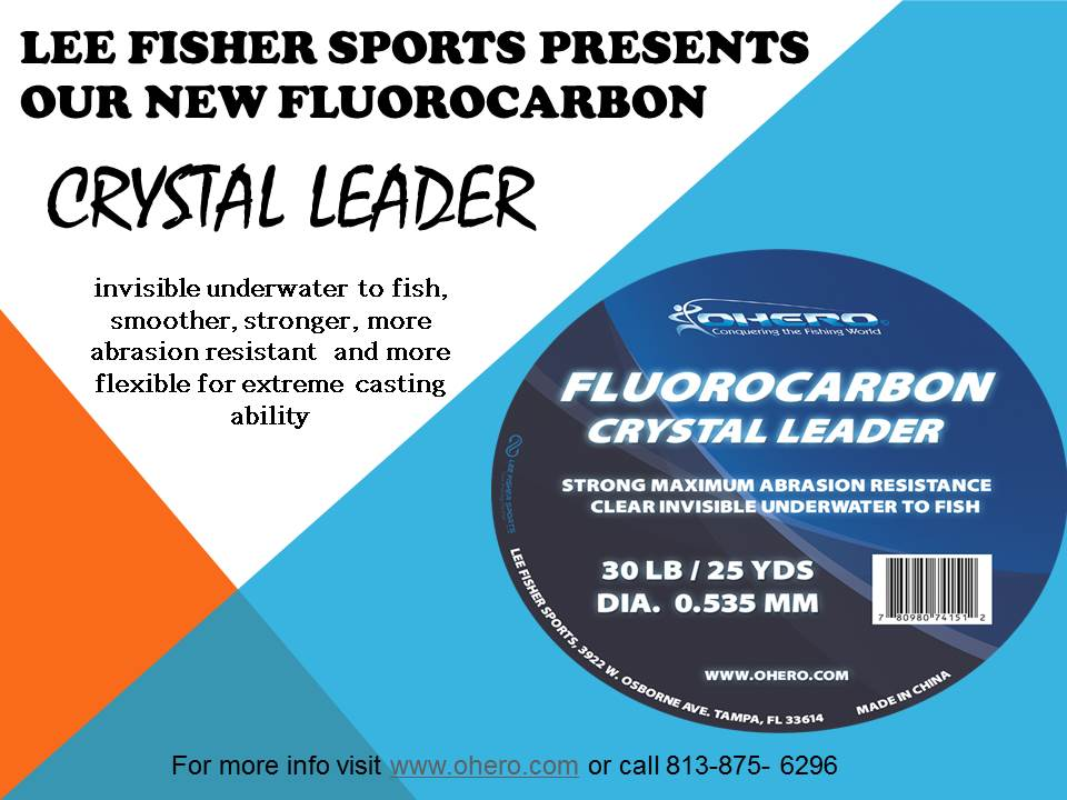 NEW OHERO FLUOROCARBON CRYSTAL LEADER 25YD.
