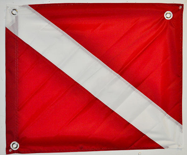 "Dive Flag Nylon-Boat Legal  (20""x24"")"