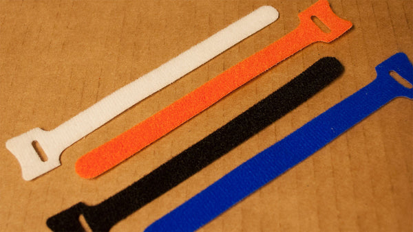 Grip Cable Ties - Reusable Velcro Self Securing Ties Mixed Colors (100 count)