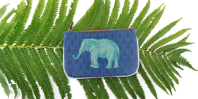 Elephant vegan leather pouch, wholesale available at www,mlavi.com