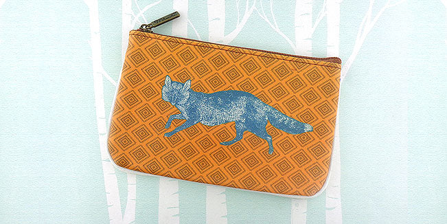 fox vegan leather pouch, wholesale available at www,mlavi.com