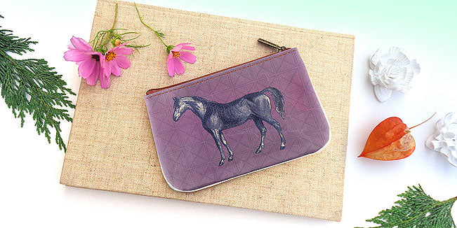 Horse vegan leather pouch, wholesale available at www,mlavi.com