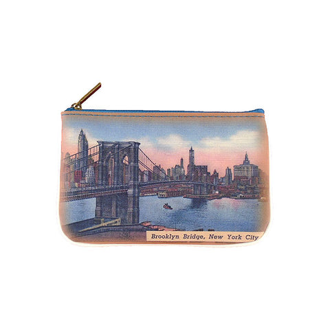 BC-NY006: New York Brooklyn bridge small pouch/coin purse