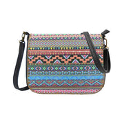 Online shopping for Mlavi Studio's whimsical vegan crossbody bag with Bohemian style Mexican Aztec print. It's roomy enough to hold wallet, smart phone and small personal items like key and lip balm. Wholesale at www.mlavi.com for gift shops, fashion accessories & clothing boutiques, museum stores worldwide.