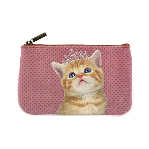 Princess Cat with teara faux leather printed pouch
