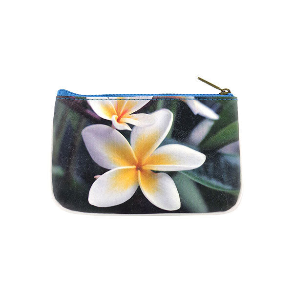 BC-CB004: Blue ocean, sandy beach & flower small pouch/coin purse