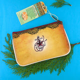 Tattoo style tribal elephant small pouch / coin purse