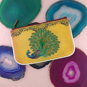 Shop Mlavi Tattoo style peacock vegan leather small pouch / coin purse