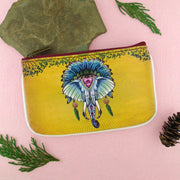 Shop Mlavi Tattoo style tribal elephant vegan leather small pouch / coin purse