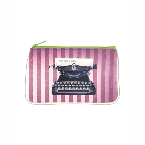 Shop Mlavi's cool retro typewriter print vegan small pouch/coin purse made with SGS tested toxic-free Eco-friendly cruelty free vegan materials. Wholesale available at www.mlavi.com for gift shop, fashion accessories & clothing boutique in Canada, USA & worldwide.