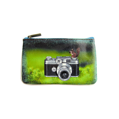 Poetic photography and inspiration quote faux leather pouch-camera