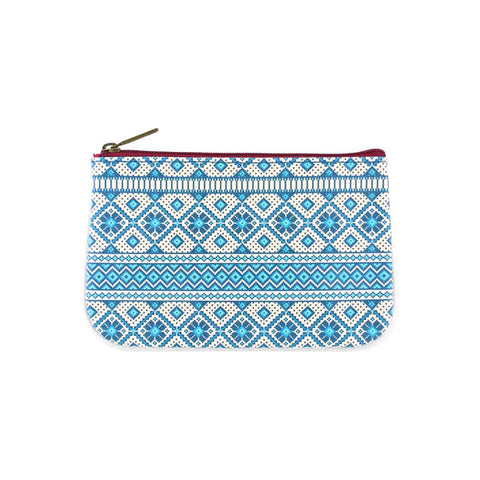 Nordic scandinavian pattern faux leather small pouch