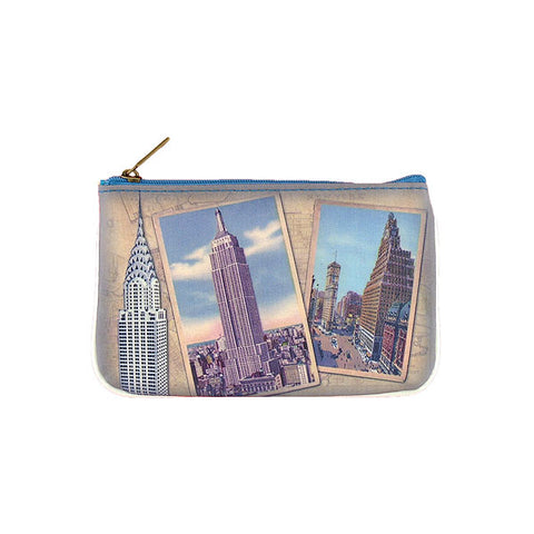 BC-NY005: New York Empire State building & Chrysler Building small pouch/coin purse