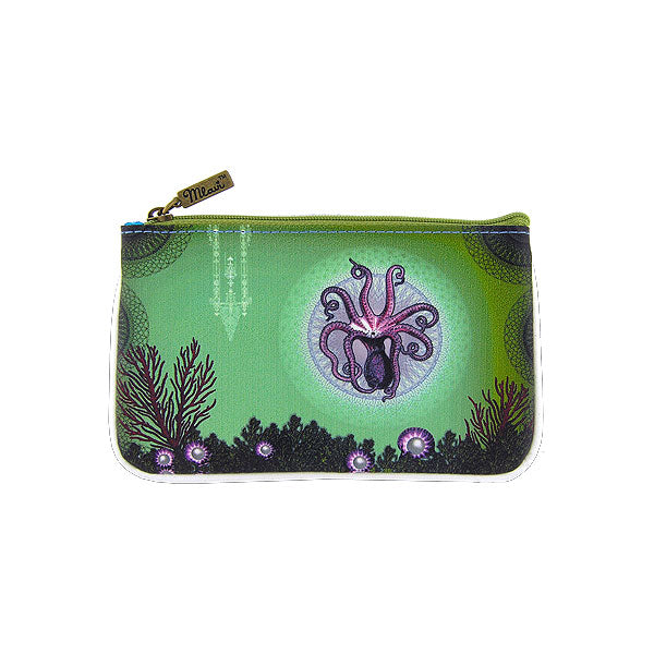 Shop Mlavi's Eco-friendly vegan leather small pouch/coin purse with octopus print. It's great for everyday use & a unique gift for yourself, family & friends. More ocean theme fashion accessories are available for wholesale at www.mlavi.com for gift shop & boutique buyers worldwide.