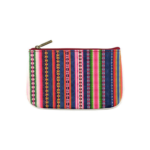BC-PV001: Peruvian textile pattern vegan small pouch/coin purse