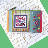 Shop Mlavi Studo's vintage style Mexican textile inspired bird & flower Print Vegan / vegan leather small pouch / coin purse. Wholesale available at www.mlavi.com