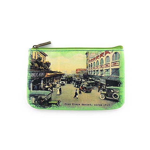 Seattle faux leather pouch-Pike Place Market