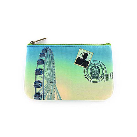 Seattle faux leather pouch-great wheel