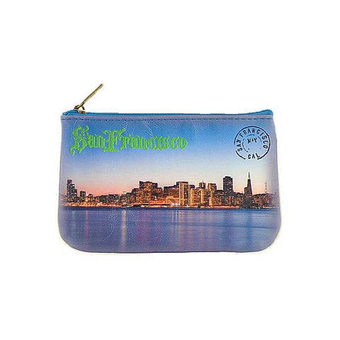 BC-SF002: San Francisco waterfront post vegan small pouch/coin purse