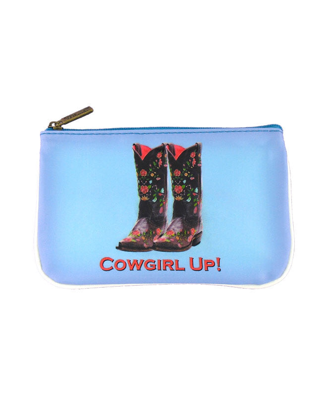 Shoe lovers' fun vegan leather pouch-cowgirl up