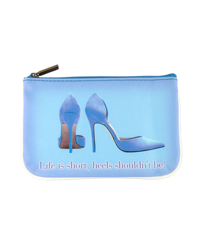 Shoe lovers' fun vegan leather pouch-high heels