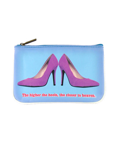 Shoe lovers' fun faux leather pouch-heaven