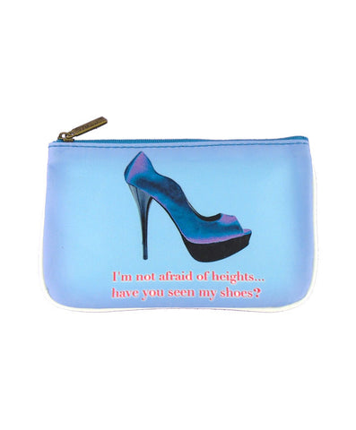 Shoe lovers' fun faux leather pouch-not afraid
