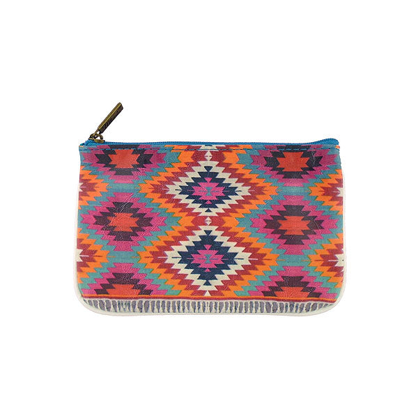 Shop Mlavi's Eco-friendly, toxic-free vegan/vegan leather small pouch with Turkish print. It's wonderful for everyday use & as a unique gift for yourself or your family & friends. Wholesale is available at www.mlavi.com to gift shop & boutique buyers worldwide.