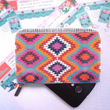 Shop Mlavi Studio's Eco-friendly, toxic-free vegan/faux leather small pouch with Turkish print. It's wonderful for everyday use & as a unique gift for yourself or your family & friends. Wholesale is available at www.mlavi.com to gift shop & boutique buyers worldwide.