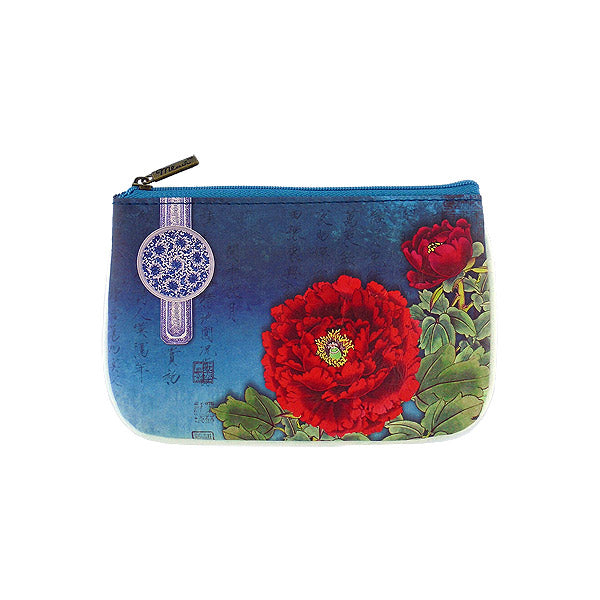 Shop Mlavi Studio's Eco-friendly vegan leather small pouch/coin purse with peony flower print. It's great for everyday use & a unique gift for yourself, family & friends. More Asian themed wallets & other fashion accessories are available for wholesale at www.mlavi.com for gift shop & boutique buyers worldwide.