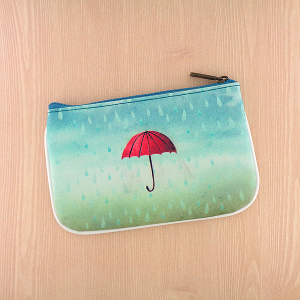 BC-SE007: Seattle illustration print small pouch/coin purse