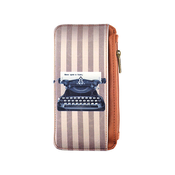 Retro typewriter vegan leather cardholder