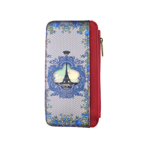 Romantic gift vintage style Paris vegan leather card holder BH-PR003