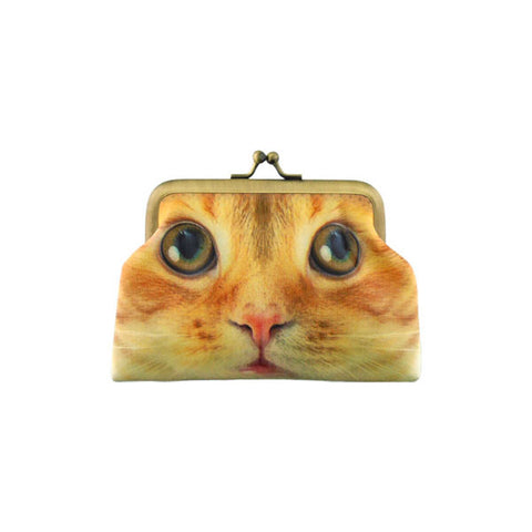 Shop Mlavi's cat vegan retro style kiss lock frame coin purse. Wholesale available at http://www.mlavi.com/cat-and-dog-collection-vegan-bag-wallet-accessories-wholesale.html